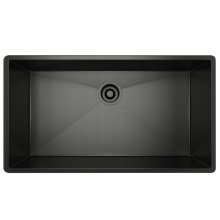 Black Stainless Steel Forze Single Bowl Stainless Steel Kitchen Sink