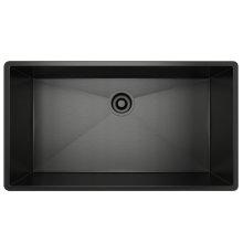 Black Stainless Steel Forze Single Bowl Stainless Steel Kitchen Sink
