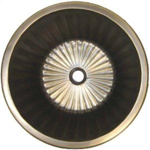 Bronze Round Flat Bottom Fluted Product Image