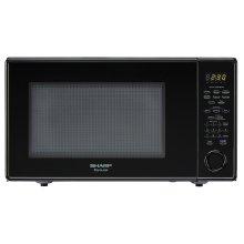 1.8 cu. ft. 1100W Sharp Black Carousel Countertop Microwave