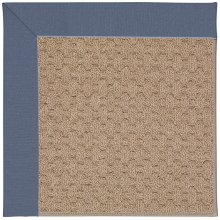 Creative Concepts-Grassy Mtn. Canvas Sapphire Blue Machine Tufted Rugs