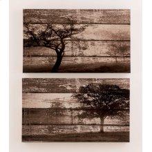 Timber and Tanning Wall Art Set (2/CN)