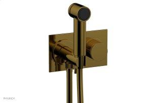 BASIC II Wall Mounted Bidet Knurled Handle 230-65 - French Brass Product Image