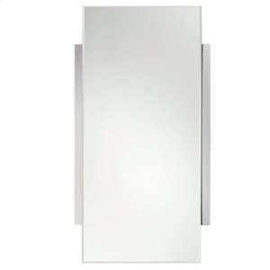 "Polished Chrome 18"" x 34"" Mirror Product Image"