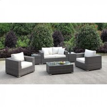 Somani Love Seat + 2 Chairs + 2 End Tables + Coffee Table