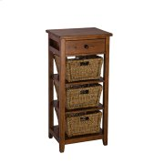 Tuscan Retreat® 3 Basket Stand - Antique Pine Product Image