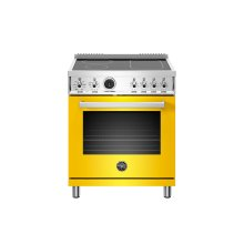 30 inch Induction Range, 4 Heating Zones, Electric Self-Clean Oven Giallo
