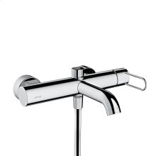 Chrome Single lever bath mixer for exposed installation with loop handle