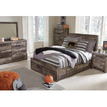 Derekson Full Bedroom Set: Full Bed, Nightstand, Dresser & Mirror