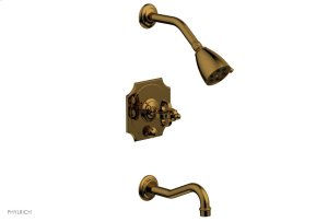 COURONNE Pressure Balance Tub and Shower Set 163-26 - French Brass Product Image