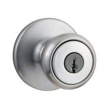Tylo Keyed Entry Knob - Satin Chrome