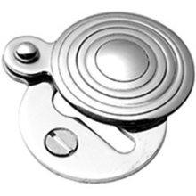 Antique Brass Unlacquered Round covered escutcheon