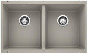 Blanco Precis Equal Double Bowl - Concrete Gray Product Image