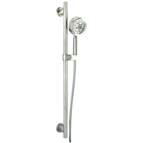 """Chrome Versa 30"""" Slide Bar Assembly with Parma® 5-Function Handshower, 2.5gpm"""