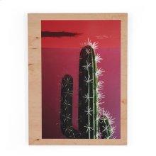 Cactus By Kara Buse Wood Box-maple Box