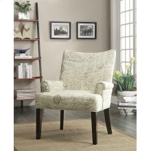 Casual Off-white Accent Chair
