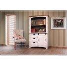 """70"""" Bookcase w/3 drawers, 1 Sliding door & 1 Wooden middle Shelf - White finish Product Image"""