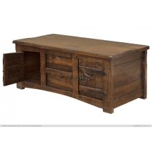 Cocktail Table w/ 4 Drawers & 4 Doors