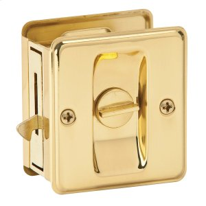 Door Hardware  Pocket Door Lock - Bright Brass Product Image