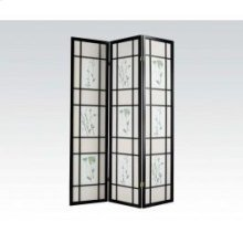 3-panel Black Wood Screen