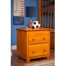 Atlantic 2 Drawer Night Stand in Caramel Latte Product Image