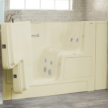 Gelcoat Premium Series 32x52 Whirlpool Walk-in Tub with Outward Opening Door, Left Drain  American Standard - Linen