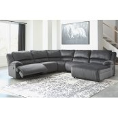 Clonmel - Charcoal 3 Piece Sectional