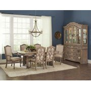 Ilana Traditional Rectangular Formal Seven-piece Dining Table Set Product Image