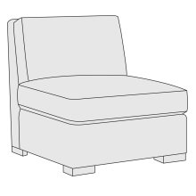 Germain Armless Chair in Mocha (751)