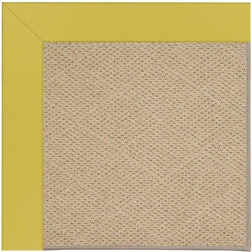 Creative Concepts-Cane Wicker Canvas Lemon Grass Machine Tufted Rugs