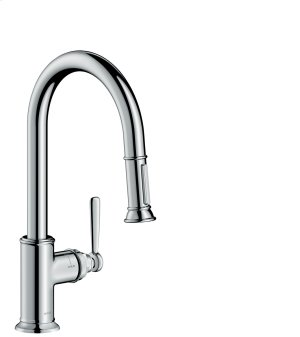 Chrome Single lever kitchen mixer 180 with pull-out spray Product Image