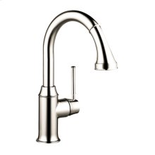Polished Nickel Prep Kitchen Faucet, 2-Spray Pull-Down, 1.75 GPM