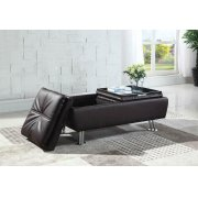 Dilleston Contemporary Brown Ottoman Product Image