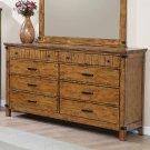 Brenner Rustic Honey Eight-drawer Dresser Product Image