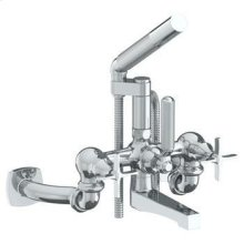Wall Mounted Exposed Bath Set With Hand Shower