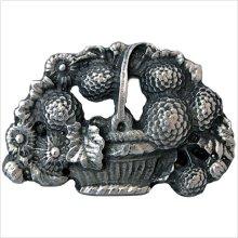 Metal Basket of Flowers