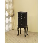 Traditional Queen Anne Black Jewelry Armoire Product Image
