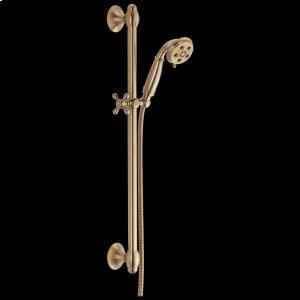 Champagne Bronze H 2 Okinetic ® 3-Setting Slide Bar Hand Shower Product Image
