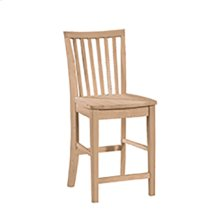 265-24B 24'' Mission Stool. 30''H stool also available (265-30B)