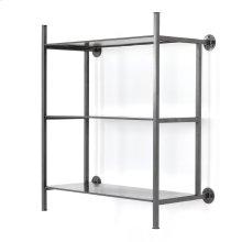 Enloe Wall Shelf-gunmetal