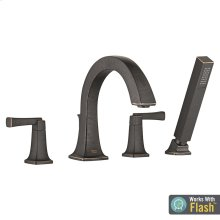 Townsend Deck Mount Tub Filler with Hand Shower  American Standard - Legacy Bronze