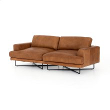 Patina Copper Leather Cover Miller Sofa-80""