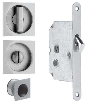 Sliding Pocket Door Mortise Lock in (Sliding Pocket Door Mortise Lock - Solid Stainless Steel) Product Image