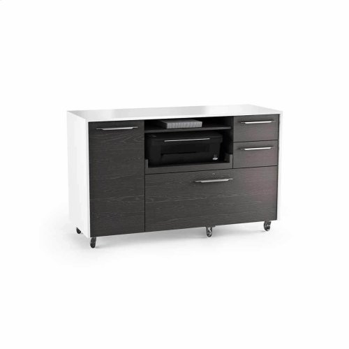 Mobile File Storage 6320 in Charcoal Stained Ash Satin White