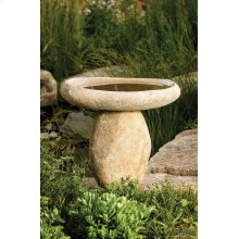 Wabi Bird Bath Natural Boulder