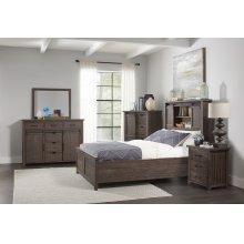 Madison County 3 PC King Barn Door Bedroom: Bed, Dresser, Mirror - Barnwood