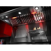 """Backguard with Shelf - 48"""" Stainless Steel"""