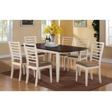 """5PC SET (72"""" Leg Table with 4 Side Chairs)"""