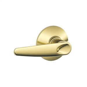 Jazz Lever Hall & Closet Lock - Bright Brass Product Image