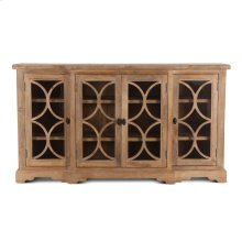 "San Rafael Glass Cabinet 75"" Antique Oak"